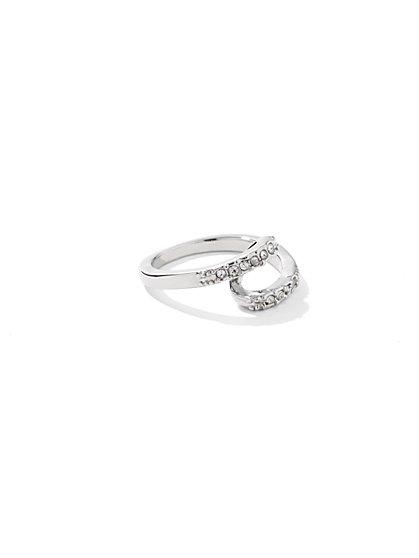 Rhinestone Double-Layer Ring  - New York & Company