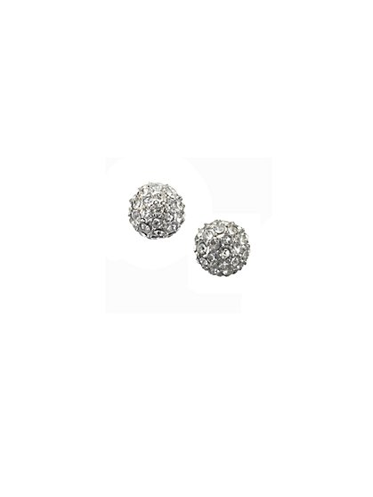 Rhinestone-Embossed Fireball Post Earrings