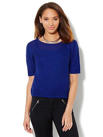 Ribbed Dolman-Sleeve Sweater - New York & Company