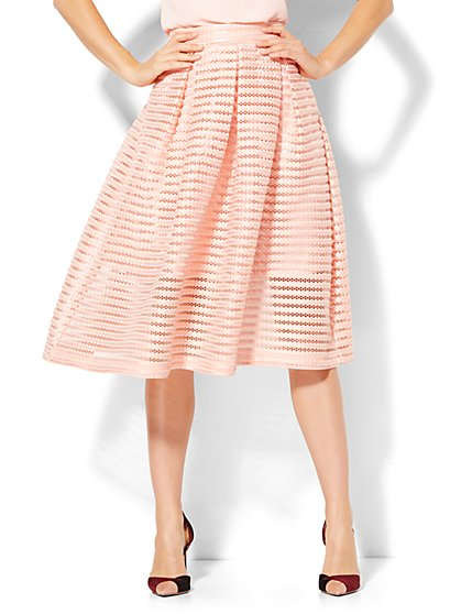 Ribbed Flare Skirt  - New York & Company