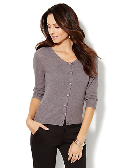 Ribbed-Hem Cardigan - New York & Company