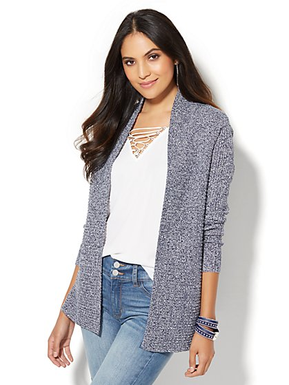 Ribbed-Knit Cardigan  - New York & Company