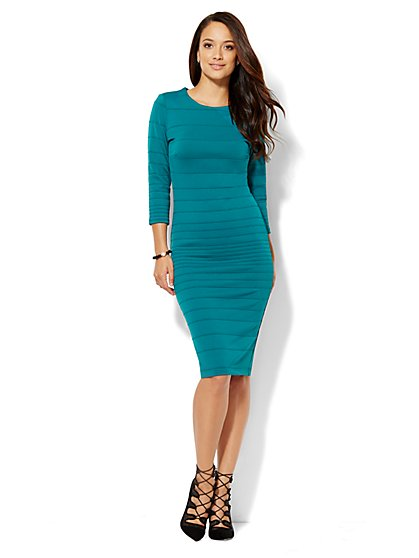 Ribbed-Knit Sheath Dress - Petite - New York & Company