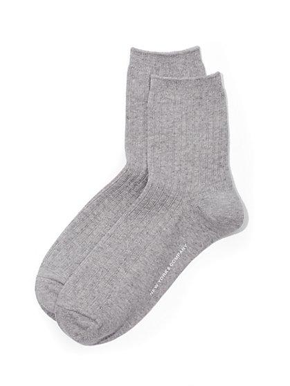 Ribbed-Knit Short Crewneck Sock  - New York & Company