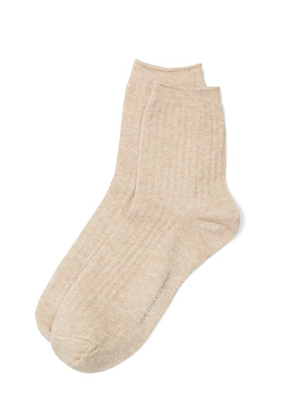 Ribbed-Knit Short Crewneck Sock  - New York & Company