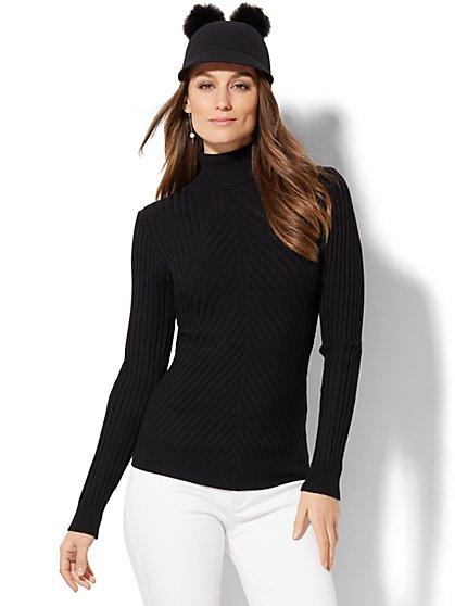Ribbed-Knit Turtleneck Sweater - New York & Company