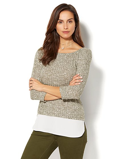 Ribbed-Knit Twofer - New York & Company