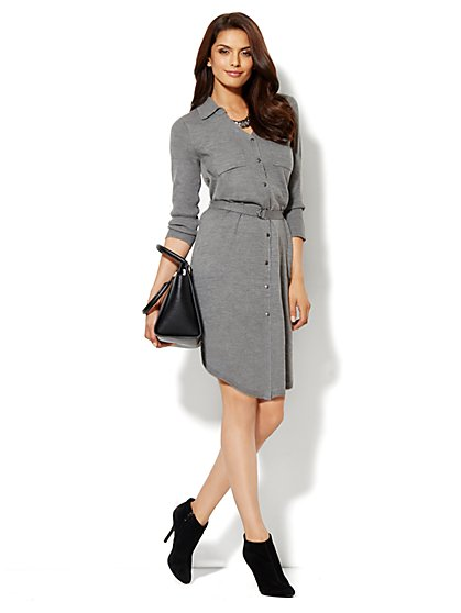 Ribbed Sweater Dress - New York & Company