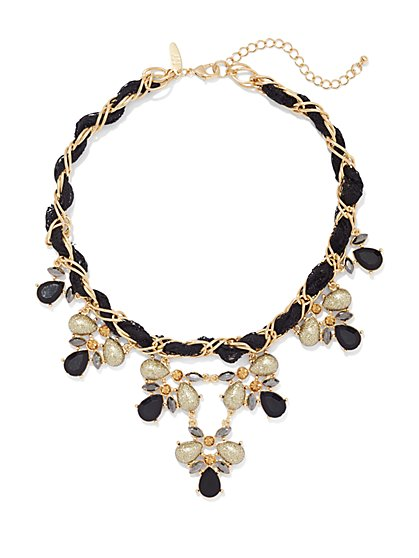 Ribbon Bib Necklace  - New York & Company