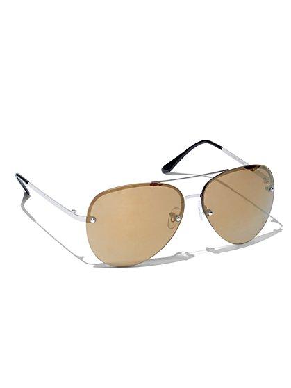 Rimless Aviator Sunglasses  - New York & Company