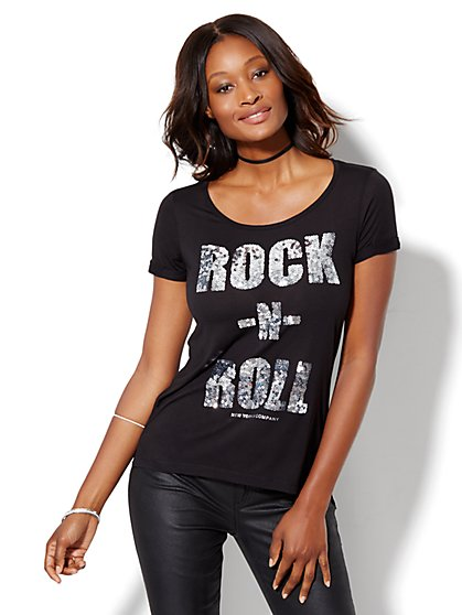 Rock-N-Roll Graphic Tee  - New York & Company