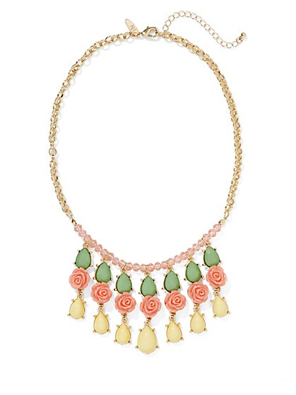 Rose Accent Necklace  - New York & Company