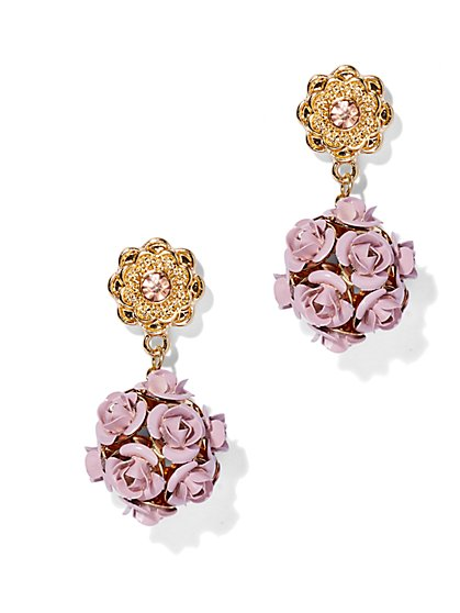 Rose Cluster Drop Earring  - New York & Company