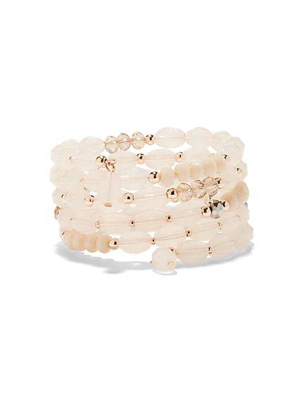 Rose Goldtone Coil Bracelet  - New York & Company