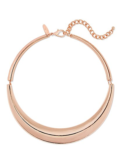 Rose Goldtone Collar Necklace  - New York & Company
