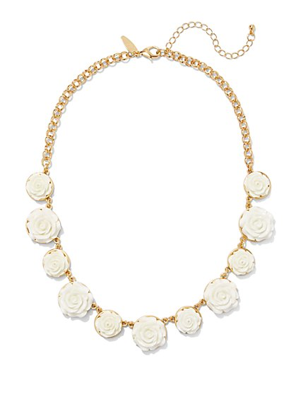 Rosette Collar Necklace  - New York & Company