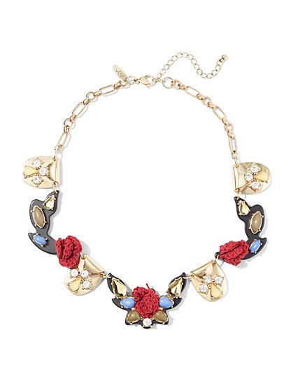 Rosette Statement Necklace  - New York & Company