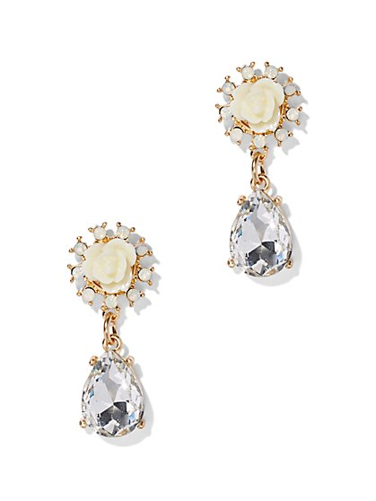 Rosette Teardrop Earring  - New York & Company