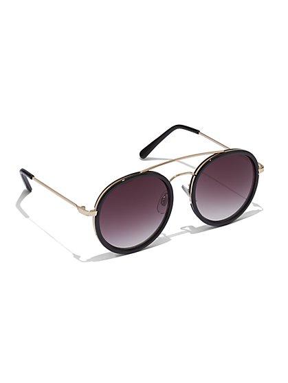 Round Aviator Sunglasses  - New York & Company
