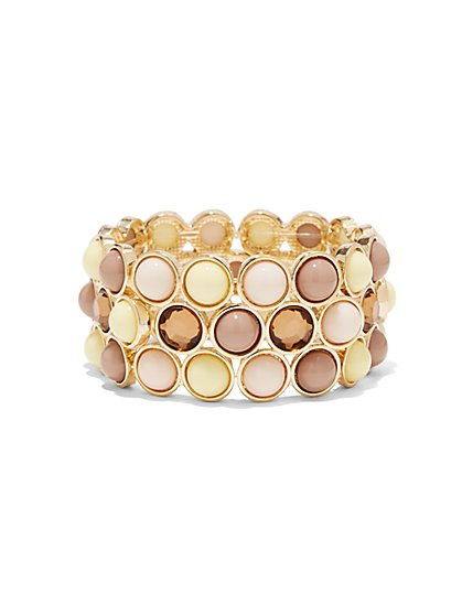 Round Beaded Stretch Bracelet  - New York & Company