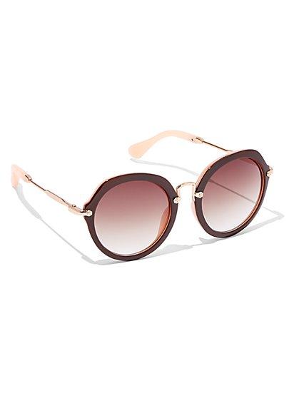 Round Frame Sunglasses  - New York & Company