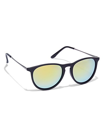 Round-Frame Sunglasses  - New York & Company