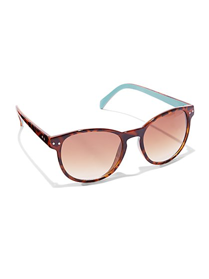 Round Tortoise Sunglasses  - New York & Company