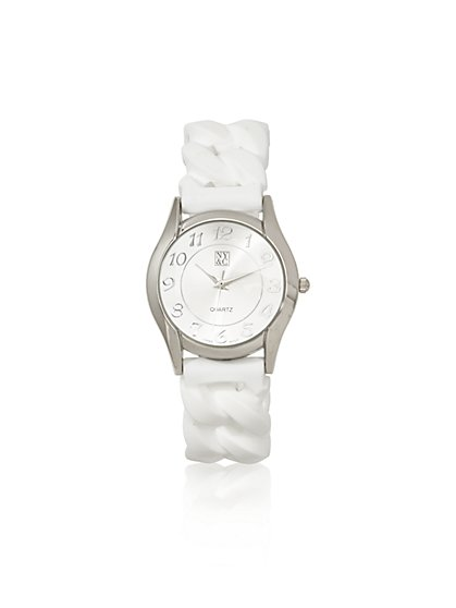 Rubber Braided Band Watch  - New York & Company