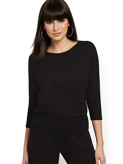 Ruched Dolman Top - NY&C Style System - New York & Company