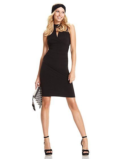 Ruched Keyhole Sheath Dress - New York & Company