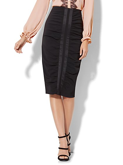 Ruched Pencil Skirt - New York & Company