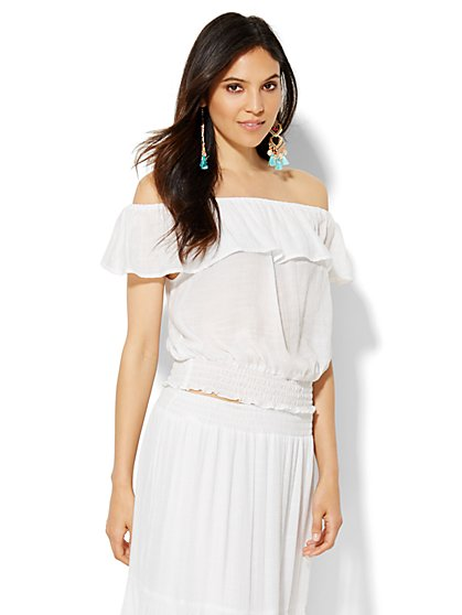 Ruffle Off-The-Shoulder Blouse - New York & Company