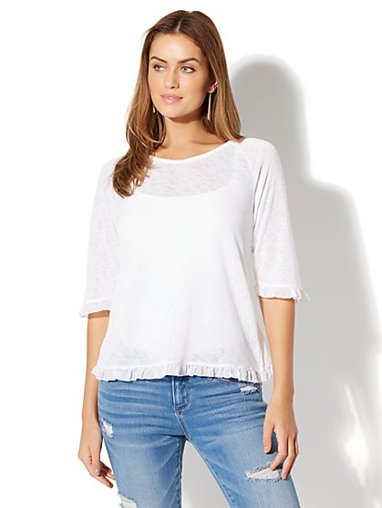 Ruffle Shirt - New York & Company