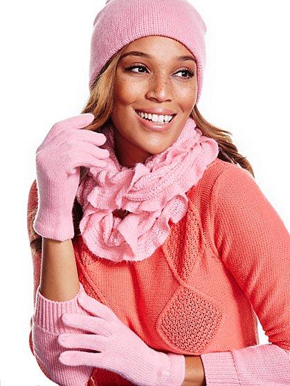Ruffled Scarf, Hat & Gloves Gift Set - New York & Company