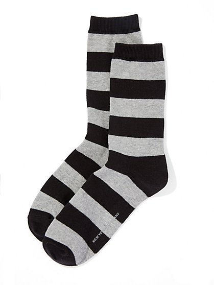 Rugby Stripe Sock  - New York & Company