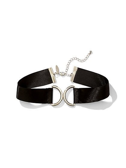 Satin Choker Necklace  - New York & Company