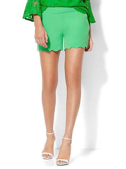Scallop-Hem Soft Short  - New York & Company