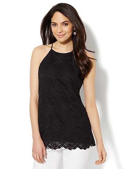 Scallop Lace Halter Top  - New York & Company