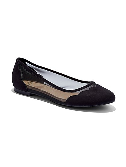 Scallop-Trim Mesh Ballet Flat  - New York & Company