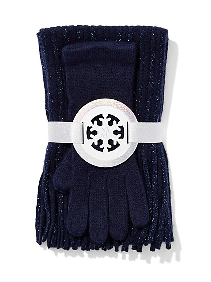 Scarf & Glove Gift Set - Lurex - New York & Company