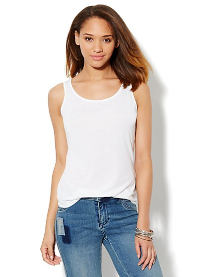 Scoop-Neck Tank - New York & Company