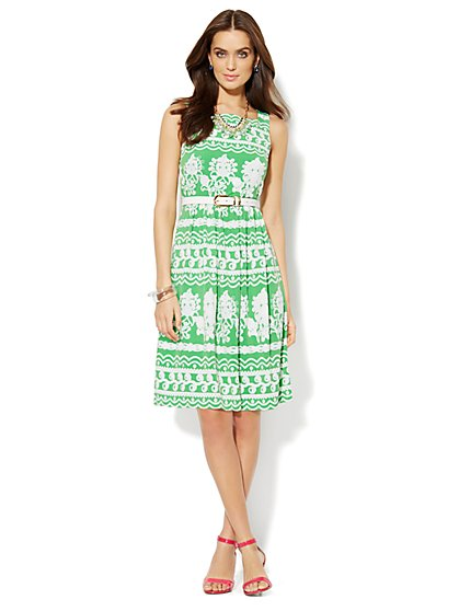 Scroll-Print Dress - New York & Company