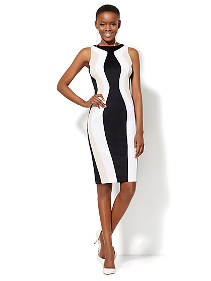 Scuba Colorblock Sheath - New York & Company