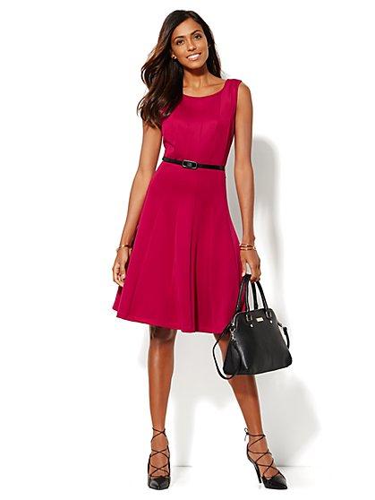 Scuba Flare Dress  - New York & Company