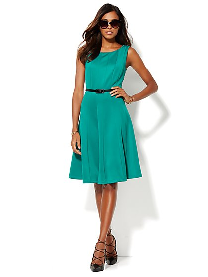 Scuba Flare Dress  - New York & Company