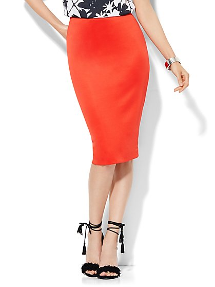 Scuba Pencil Skirt  - New York & Company