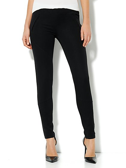 Seamed Bi-Stretch Legging - New York & Company
