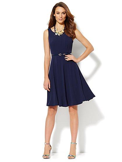 Seamed Flare Dress  - New York & Company