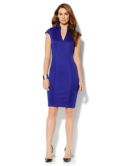 Seamed Scuba Dress - New York & Company
