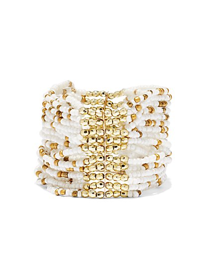 Seedbead Cuff Bracelet  - New York & Company
